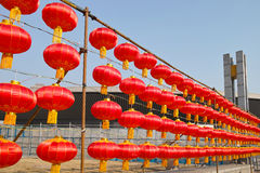 Rode lantaarns Royalty-vrije Stock Afbeeldingen