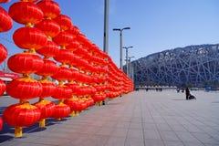 Rode lantaarns om Chinees Nieuwjaar te vieren royalty-vrije stock foto's