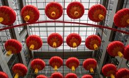 Rode lantaarns tijdens Chinees Nieuwjaar royalty-vrije stock foto's