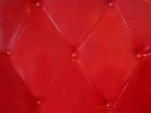 Rode leerachtergrond Stock Foto's