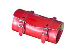 Rode Leerzak. Stock Afbeeldingen