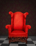 Rode leunstoel Royalty-vrije Stock Fotografie