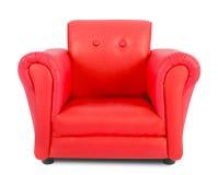 Rode leunstoel Royalty-vrije Stock Afbeeldingen