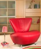 Rode leunstoel Royalty-vrije Stock Afbeelding