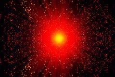 Rode lichten als achtergrond. Stock Foto