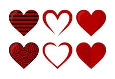 Rode Liefde en Hartvorm Stock Afbeeldingen
