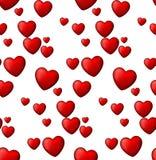 Rode liefde naadloze achtergrond van hartbellen. Royalty-vrije Stock Afbeelding