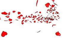 Rode liefdeharten Stock Foto's