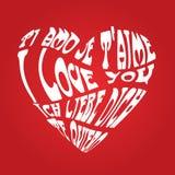 Rode liefdekaart Stock Afbeeldingen