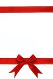 Rode lint en boog Stock Afbeelding