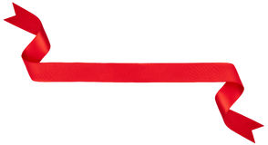 Rode lintbanner Royalty-vrije Stock Afbeelding