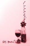 Rode linten stock afbeelding