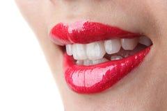 Rode lippen Royalty-vrije Stock Afbeeldingen