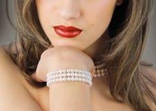 Rode lippen Royalty-vrije Stock Foto
