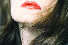Rode Lippen royalty-vrije stock fotografie