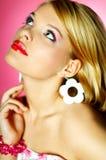 Rode lippenschoonheid Royalty-vrije Stock Foto