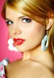 Rode lippenschoonheid royalty-vrije stock afbeelding