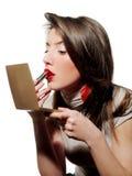Rode lippenstift royalty-vrije stock fotografie