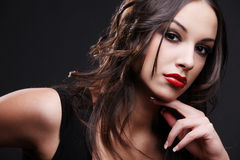 Rode lippenstift. Stock Foto's