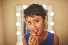 Rode lippenstift Stock Foto's