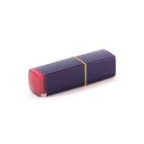 Rode lippenstift die op witte achtergrond wordt geïsoleerds Royalty-vrije Stock Afbeelding