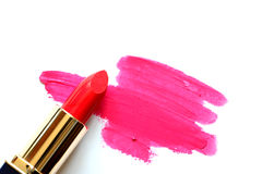 Rode lippenstift op wit Royalty-vrije Stock Fotografie