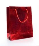 Rode luxe het winkelen zak Stock Foto's