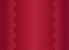 Rode luxe uitstekende achtergrond met bloemenornament Royalty-vrije Stock Afbeeldingen