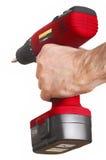 Rode machtsboor rote Bohrmaschine royalty-vrije stock foto