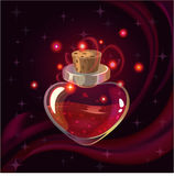 Rode magische fles Stock Afbeelding