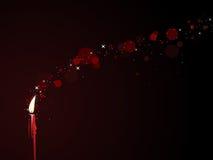 Rode magische kaars Stock Afbeelding