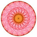 Rode mandala Stock Afbeelding