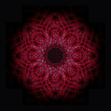 Rode mandala royalty-vrije illustratie