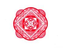 Rode mandala royalty-vrije stock foto