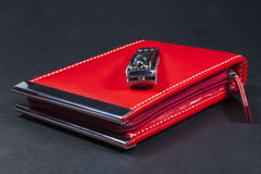 Rode manicurereeks Royalty-vrije Stock Foto
