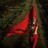 Rode maniervrouwen royalty-vrije stock afbeelding