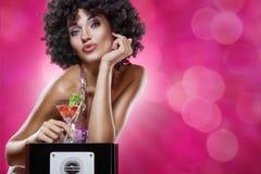 Rode martini royalty-vrije stock afbeelding