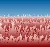 Rode menigte royalty-vrije illustratie