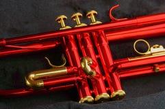 Rode messingstrompet Royalty-vrije Stock Afbeeldingen