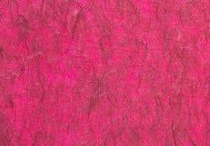 Rode met de hand gemaakte document of moerbeiboomdocument textuur Royalty-vrije Stock Foto
