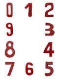 Rode met de hand geschreven aantallen Stock Afbeelding