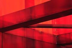 Rode metaalbouw royalty-vrije stock afbeeldingen