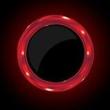 Rode Metaalcirkel Stock Fotografie