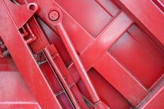 Rode metaalmachines, hydraulica stock foto