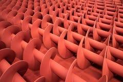 Rode metaalschroeven Stock Fotografie