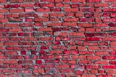 Rode metselwerkachtergrond/bakstenen muur Stock Afbeelding