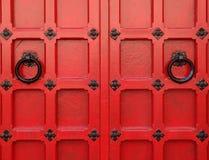 Rode Middeleeuwse Deuren Royalty-vrije Stock Foto