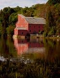 Rode molen Stock Foto's