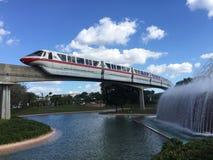 Rode Monorail, Epcot stock afbeeldingen