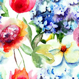 Rode mooie bloemen Royalty-vrije Stock Afbeelding